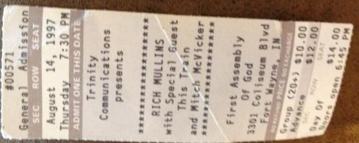 Rich ticket stub